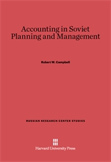 Cover: Accounting in Soviet Planning and Management