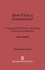 Cover: How Firm a Foundation?: An Appraisal of Threats to the Quality of Elementary Education