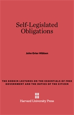 Cover: Self-Legislated Obligations
