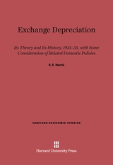 Cover: Exchange Depreciation: Its Theory and Its History, 1931–35, with Some Consideration of Related Domestic Policies