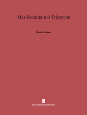 Cover: Max Beckmann's Triptychs in E-DITION