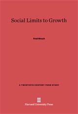 Cover: Social Limits to Growth in E-DITION