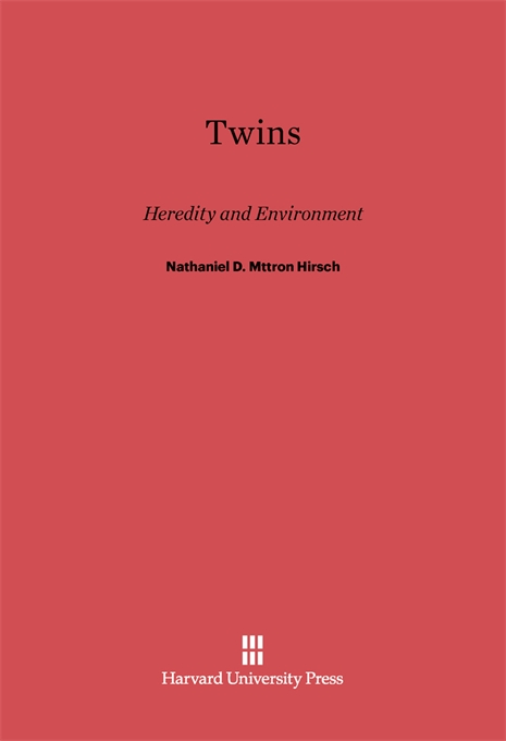 Cover: Twins: Heredity and Environment, from Harvard University Press