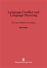 Cover: Language Conflict and Language Planning: The Case of Modern Norwegian
