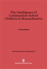 Cover: The Intelligence of Continuation-School Children in Massachusetts