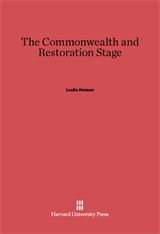Cover: The Commonwealth and Restoration Stage
