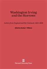 Cover: Washington Irving and the Storrows: Letters from England and the Continent, 1821-1828