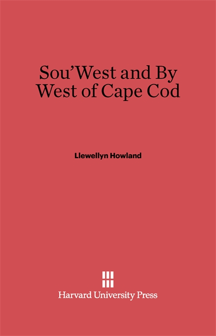 Cover: Sou'West and By West of Cape Cod, from Harvard University Press