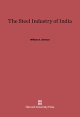 Cover: The Steel Industry of India