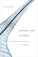 Cover: Natural Law in Court in HARDCOVER