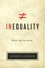Cover: Inequality: What Can Be Done?, by Anthony B. Atkinson, from Harvard University Press