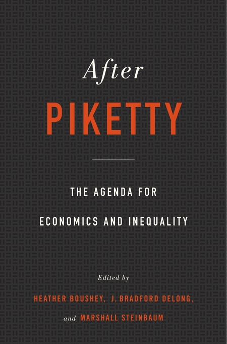 Cover: After Piketty: The Agenda for Economics and Inequality, from Harvard University Press