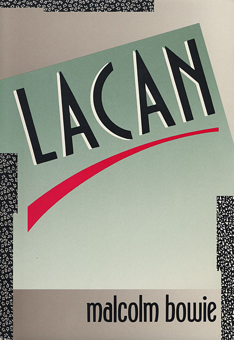 Cover: Lacan, from Harvard University Press