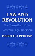 Cover: Law and Revolution, I: The Formation of the Western Legal Tradition