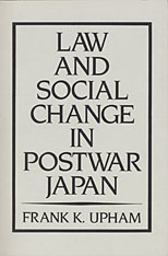 Cover: Law and Social Change in Postwar Japan