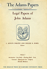 Cover: Legal Papers of John Adams in HARDCOVER
