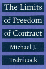 Cover: The Limits of Freedom of Contract in PAPERBACK