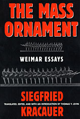 Cover: The Mass Ornament: Weimar Essays