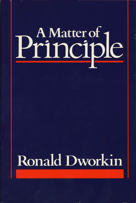 Cover: A Matter of Principle, from Harvard University Press