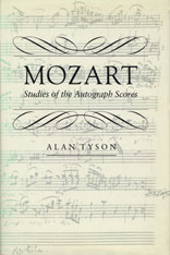 Cover: Mozart: Studies of the Autograph Scores