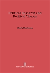 Cover: Political Research and Political Theory