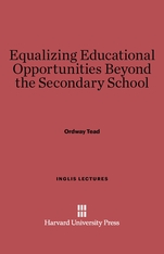Cover: Equalizing Educational Opportunities Beyond the Secondary School