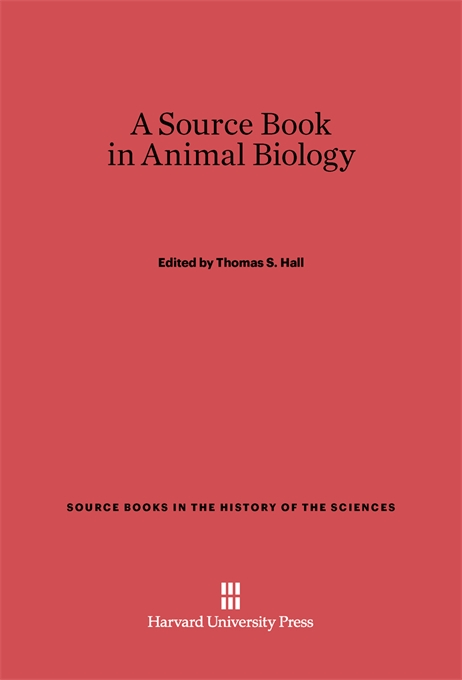 Cover: A Source Book in Animal Biology, from Harvard University Press