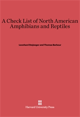 Cover: A Check List of North American Amphibians and Reptiles: Fourth Edition