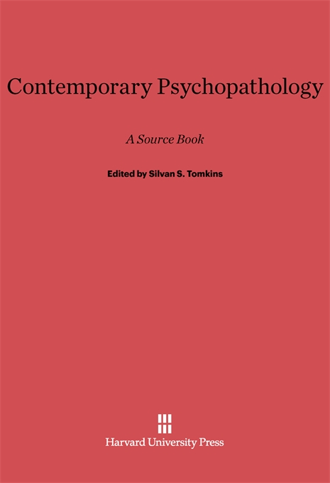 Cover: Contemporary Psychopathology: A Source Book, from Harvard University Press