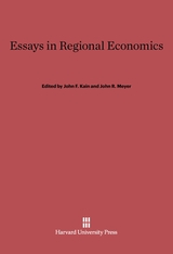 Cover: Essays in Regional Economics