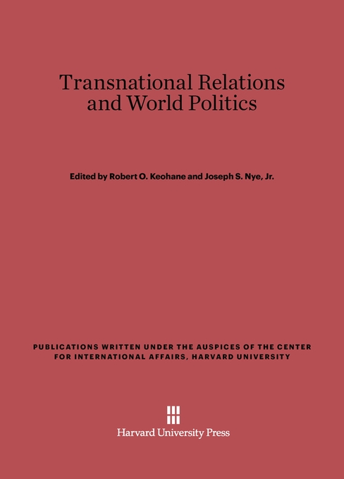 Cover: Transnational Relations and World Politics, from Harvard University Press