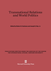 Cover: Transnational Relations and World Politics