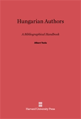 Cover: Hungarian Authors: A Bibliographical Handbook