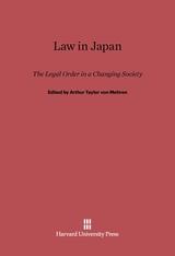 Cover: Law in Japan: The Legal Order in a Changing Society
