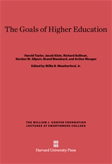 Cover: The Goals of Higher Education