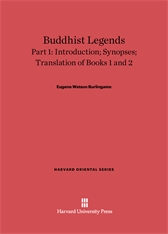Cover: Buddhist Legends: Translated from the Original Pali Text of the Dhammapada Commentary, Part 1: Introduction, Synopses, Translation of Books 1 and 2
