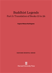 Cover: Buddhist Legends: Translated from the Original Pali Text of the Dhammapada Commentary, Part 3: Translation of Books 13–26