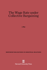 Cover: The Wage Rate under Collective Bargaining
