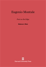 Cover: Eugenio Montale: Poet on the Edge