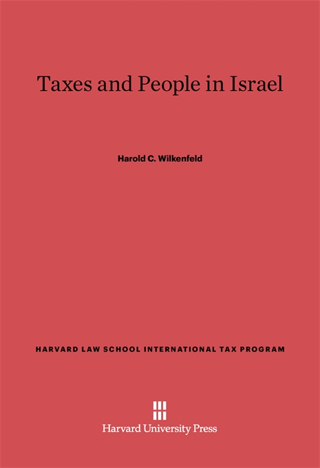 Cover: Taxes and People in Israel, from Harvard University Press