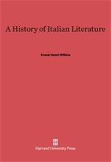 Cover: A History of Italian Literature: Revised Edition