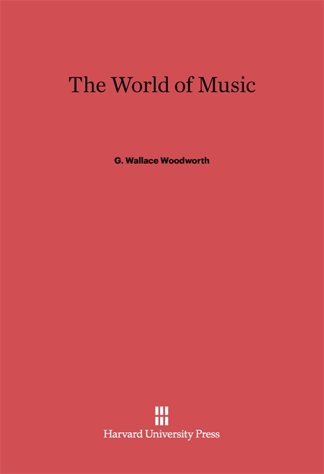 Cover: The World of Music, from Harvard University Press
