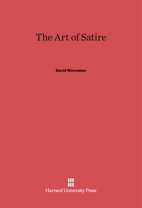 Cover: The Art of Satire, from Harvard University Press