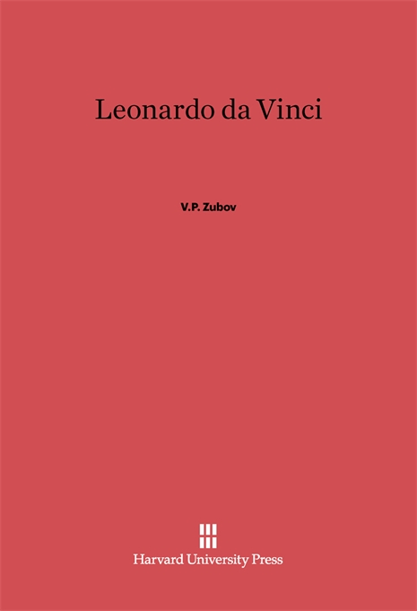 Cover: Leonardo da Vinci, from Harvard University Press