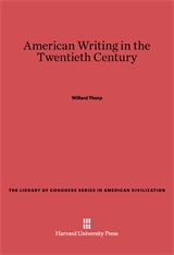Cover: American Writing in the Twentieth Century