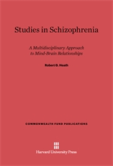 Cover: Studies in Schizophrenia: A Multidisciplinary Approach to Mind–Brain Relationships
