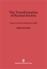 Cover: The Transformation of Russian Society: Aspects of Social Change since 1861