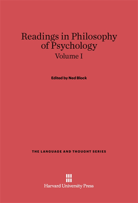 Cover: Readings in Philosophy of Psychology, Volume I, from Harvard University Press
