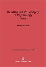 Cover: Readings in Philosophy of Psychology, Volume I in E-DITION