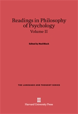 Cover: Readings in Philosophy of Psychology, Volume II